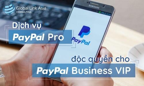 Dịch vụ PayPal Pro độc quyền cho PayPal Business VIP